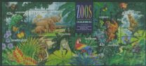 AUS SGMS1484 Australian Zoos, Endangered Species miniature sheet with Sydney overprint